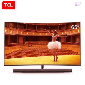 TCL 65 pollici curvo TV AI intelligenza artificiale discorso 4K Ultra HD TV LCD a LED 136% a colori ad alta gamesharman kardon TV audio trasporto libero