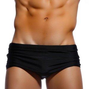 Sólidas Calção New Men Sexy Swimwear sunga homens traje de banho quente nadar cuecas Praia Shorts Gay biquíni Surf Shorts