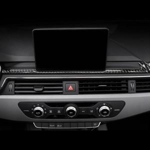 Автомобильные укладки углеродного волокна навигация украшения кадр крышка приборной панели наклейки наклейки наклейки для Audi A4 B9 2017-19 Auto Accessories
