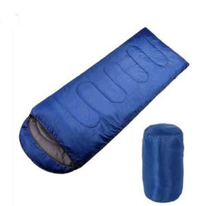 Nueva Multifunción Portátil Al aire libre Bolsas de dormir Bolsa de viaje Primavera Verano Otoño Camping Envelope Cap Cotton Cotton Sleeping Bags SB001