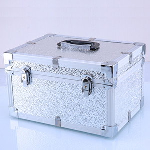 Tool case toolbox suitcase bag Impact resistant waterproof Aluminum frame ABS security equipment with pre-cut foam travel luggage box