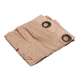 Fashion Floral moderna Tulle Soggiorno Curtain (Brown) 250 * 100cm Tenda Pali