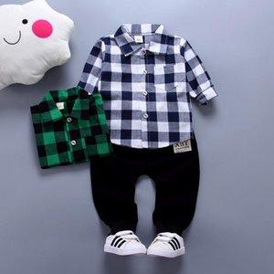 2018 Printemps Enfants Chaud Enfants Costumes Ensemble Garçon Mode Enfants Costume À Carreaux Vêtements Garçons Bébé Enfants Vêtements Ensembles Garçon Tenues Marque