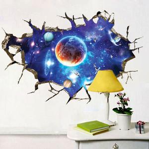 Planeta 3D Space Galaxy Sala adesivo parede teto Decoração Kid Quarto Wall Stickers Decoração Início