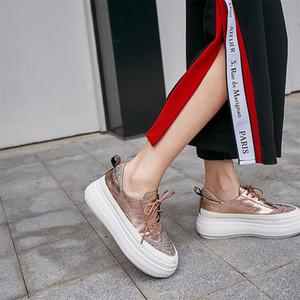 FEDONAS 2020 весна лето удобные женские квартиры крест связали мелкая Повседневная обувь женское качество натуральная кожа Женские кроссовки