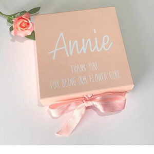 Personalised Bridesmaid   Flower Girl Gift Box, Pink Gift Box, Birthday Box for Girls,Rose gold foil New Baby Keepsake box