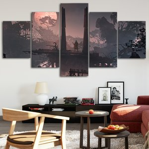 SEKIRO: Shadows Die Twice2 Canvas Posters Home Decor Wall Art Framework 5 Pieces Paintings For Living Room HD Prints Pictures