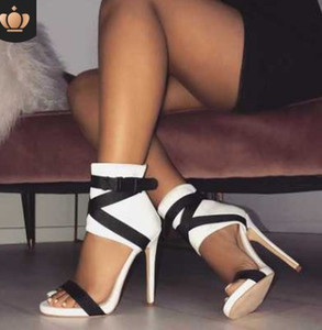 11 cm boyutu 35-40 topuk sıcak satıcı roma sandalet bayan maç renk büyük boy yüksek topuk sandalet 113
