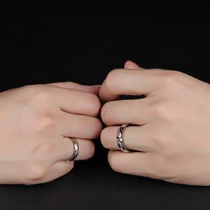 Anel de casamento casal anéis Heart Shaped Valentine Presente Quebra-cabeça de aço inoxidável Jóias para as Mulheres Homens EUA Tamanho 5-15 Presente de Natal