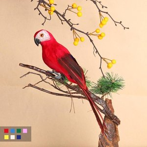 Home Decoration Artificial Parrot Cute Bird Designer Home Decor Weeding Gift Party Garden Yard Tree Decorations Plastic Fashion