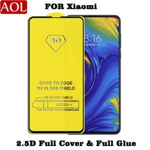 Tela de cobertura total 9D vidro temperado Protector AB cola Borda a Borda Para Xiaomi CC9 P 9 T9 A3 9SE redmi 8 Um 7A Nota 8 Pro