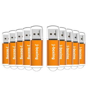 Orange 10PCS Rectangle USB 2.0 Flash Drives assez Pen Drive Thumb Memory Stick Stockage 64M 128M 256M 512M 1G 2G 4G 8G 16G 32G pour PC portable