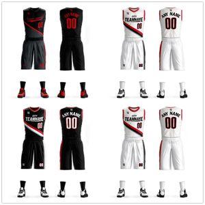 2019 Juegos de camisetas de baloncesto Uniformes Kits Ropa deportiva Transpirable Custom College TEAM Camisetas de baloncesto Pantalones cortos Camisa