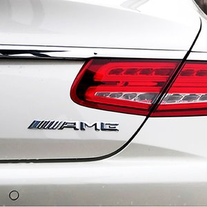 Aplicable al nuevo Mercedes-B. Pegatinas de auto estándar AMG modificadas. Clase C Clase S Clase S C63 cola estándar marca inglesa s