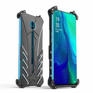 JSKEI를 들어 오포 리노 휴대 전화 케이스 Thiner 균열에 강한 충격 방지 모든 것을 포함하는 입자 젖빛 배트맨 금속 전화 케이스