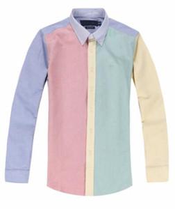 Nouvelle arrivée populaires chemises hommes décents à carreaux classique Rugby golf solide chemises casual cheval hommes de taille normale
