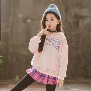 2020 Spring Girls Clothing Set Children's Suits For Girls Sweatshirts Letter Cotton Hoodies+Pants Skirts Leggings Plaid Trousers