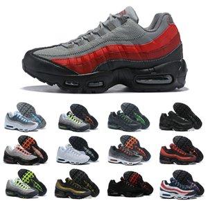 ПРОДАЖ 2020 Air OG Подушка 95 Mens Running Спортивная обувь Аутентичные Maxes Chaussures 95S двадцатую годовщину тапок Тройные Черный Белый Трейнеры