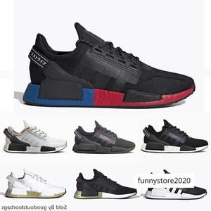 NMD R1 V2 des chaussures Core Black White Mens Running Shoes OG Bred Metallic Gold Triple Men Women Sports Designer Sneakers Size 36-45