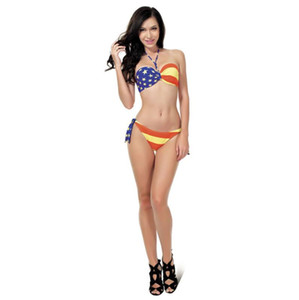 New flag gathered swimsuit swimsuit steel swimsuit smart+sexy steel bikini