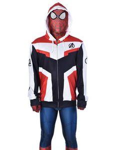 Avengers Endgame Quantum Royaume Sweat Veste Advanced Tech Broderie À Capuche Costumes Cosplay costume de costume de jeu
