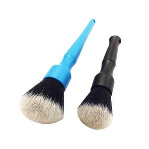 Super Soft Blanc Nettoyage Intérieur Brosse à cheveux Outils électrostatique Enlever la poussière pour les détails Brosse usine Détailler Car Wash Brushs