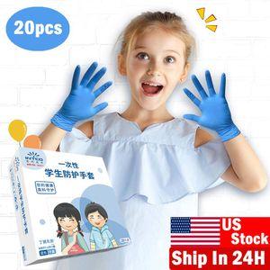 7-12 yaşında Lateks Ücretsiz Koruyucu Çocuk golves XS / S Nitril Eldivenler 100Pcs Çocuklar Tek kullanımlık eldiven Nitril Eldiven
