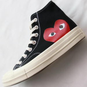 1970 Big Eyes Jugar Chuck 70 del corazón Hola Hombre Mujeres Alto Bajo Skate Zapatos clásicos 1970 zapatos de lona conjuntamente Monopatín del nombre zapatillas de deporte casuales