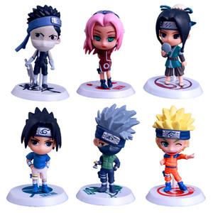 6 tasarım Naruto Q Edition Naruto Anime Aksiyon Figürleri Koleksiyon oyuncaklar yeni Çocuk Naruto Karikatür PVC Rakamlar Model oyuncaklar