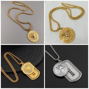 Yunan Kartları kolye Yunanistan Disk Kolye Erkekler Ve Kadınlar Yüksek Kaliteli Kaplama necklet EDC Alaşım Altın Gümüş 18hp C1