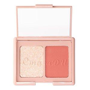 Cmaadu 2 Colors Blush High-gloss Powder Shimmer Natural Face Modification blush palette peach waterproof blush 12pcs lot