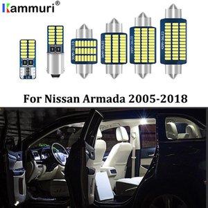 Kammuri 15pcs Free Error Blanc LED Light Kit voiture Intérieur paquet pour 2005-2018 Armada LED Éclairage intérieur