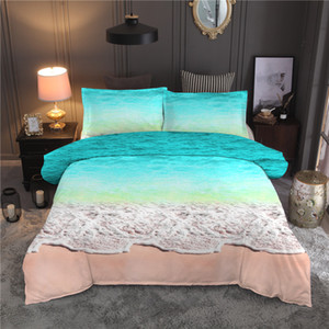 Scenery Sea Printed Bedding Set Wave Duvet Cover Sets Queen King Quilt Cover Bed Linen