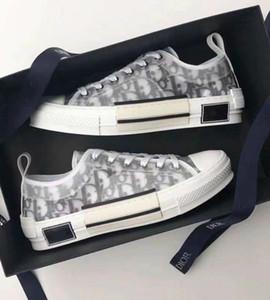 2020 Nova Mulheres Canvas Oblique técnico texturizados Carta Imprimir Lace-up Sneaker Homens Branco preto de dois tons sola de borracha calçados casuais 03