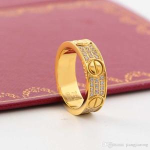 fahion grand anneau d'amour de la marque pour les femmes bijoux usine de gros bijoux décoratifs diamants pleine vente chaude peut sculpter logo