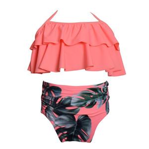 2018 Fashoin Baby Child Bikini swimsuit swimwear high waisted bathing suit for kids baby girls Biquini children swimwear