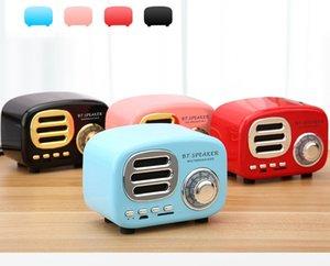BT02 BT-Hoparlör Retro Radyo Bluetooth Hoparlör Vintage nostaljik Surround HiFi Hoparlörler destek V4.1 TF USB FM AUX 10 adet