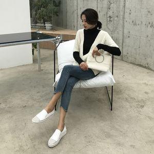 Yu Kube echtes Leder Loafers Schuhe 2019 beiläufige Kristall Strass Frau Flats Turnschuhe Damen Driving Schuhe zapatos de mujer
