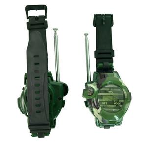 Montre camouflage militaire sans fil camouflage montre militaire Interphone talkie-walkie sans fil de sept dans un plein air articles chauds pour les enfants