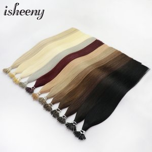 """Micro Beads Extensions Isheeny 14\"""" 18\"""" 22\"""" Remy Micro Beads Hair Extensions In Nano Ring Links Human Hair Straight 9"""