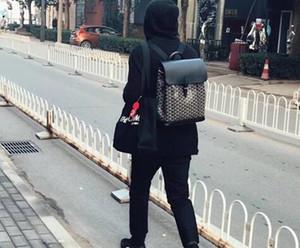 2020 Qualitäts-Art- und Paris heißen Verkauf-echten Leder-Männer Frauen-GY-Rucksack Goya Schultasche