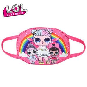 Fashion Accessories Kids cute masks Dolls Half Muffle Face Mask Kids dolls Cotton Dustproof Cartoon Mouth Masks Breathable Masks for girls