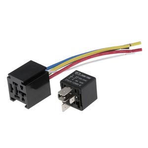 80A 5-Pin Relay Socket cablaggio del connettore per il camion auto con incastro del supporto dello zoccolo Block