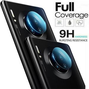 Para Huawei mate 30 20 P30 P10 Plus 20X Mate20 Mate30 Pro lente de la cámara del protector de vidrio templado 3D Full Back película de aluminio de metal cubierta completa