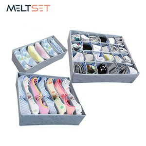 3PCS SET Multi-size Bra Underwear Organizer Foldable Home Storage Box Non-woven Wardrobe Drawer Closet Organizer For Scarfs Sock Y200628