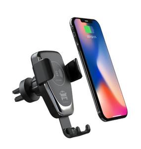 10 Вт Автомобильное Крепление Ци Беспроводное Зарядное Устройство Для iPhone XS Макс X XR 8 Samsung ПРИМЕЧАНИЕ 9 S10 S9 s8 plus Быстрая беспроводная зарядка Автомобильный держатель телефона