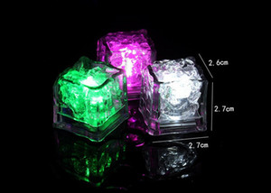 new colorful Mini Romantic Luminous Cube LED Artificial Ice Cube Flash LED Light Wedding Christmas Decoration Party T2G5063