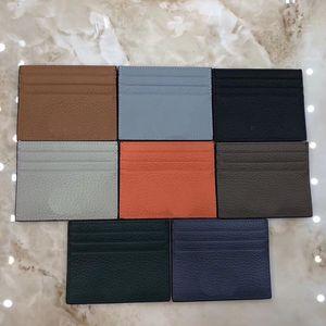 Card Case tasca frontale in pelle Mens caldo di vendita Genuine Leather Holder di carta sottile Ultra Slim Men Wallet fustigano la cassa di carta sottile sottile portafoglio