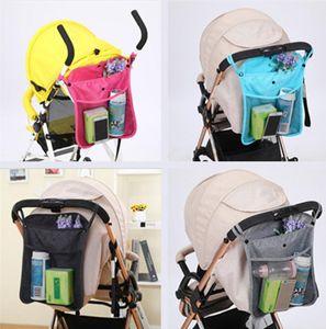 Infant Pram Cart Mesh Hanging Storage Bag Baby Trolley Bag Seat Pocket Carriage Stroller Accessories