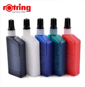 Rotring Drawing ink for tracing paper and line board,for rotring Isograph drawing pen black blue red green white ink 1 piece